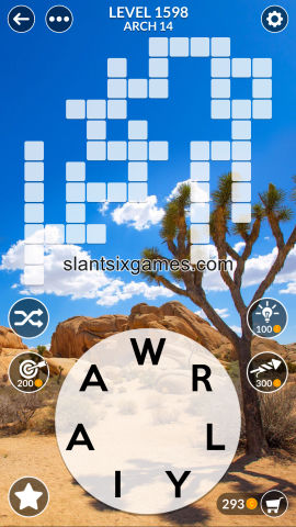 Wordscapes level 1598
