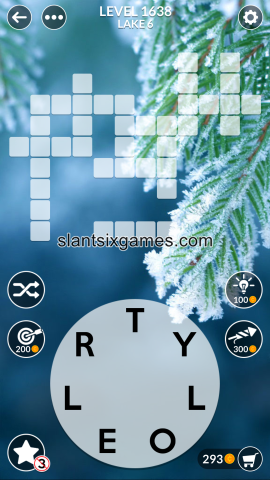 Wordscapes level 1638