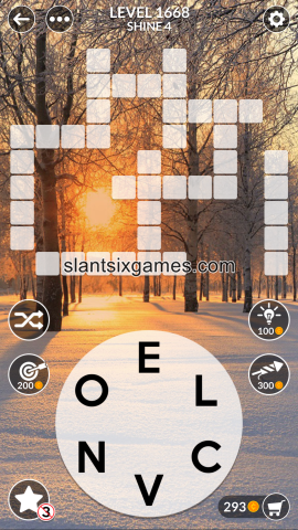 Wordscapes level 1668