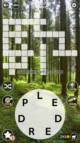 Wordscapes level 1720