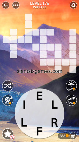 Wordscapes level 176