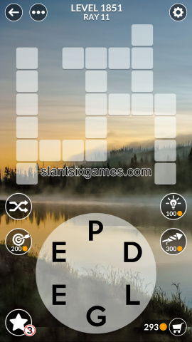 Wordscapes level 1851