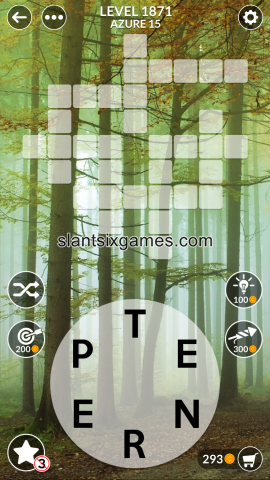 Wordscapes level 1871