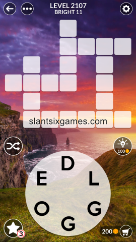 Wordscapes level 2107