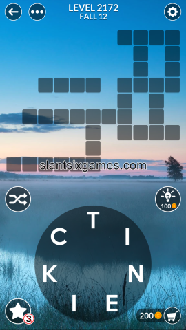 Wordscapes level 2172