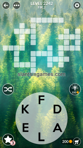 Wordscapes level 2242