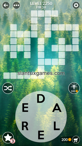 Wordscapes level 2250
