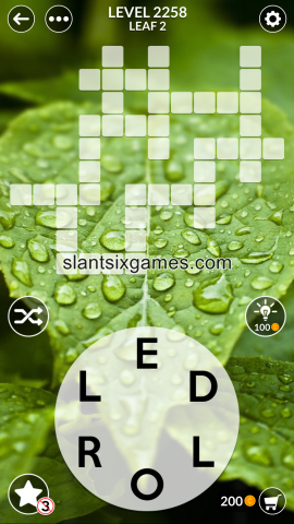 Wordscapes level 2258