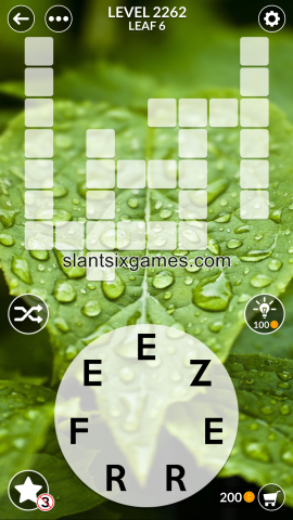Wordscapes level 2262