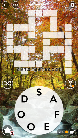 Wordscapes level 2274