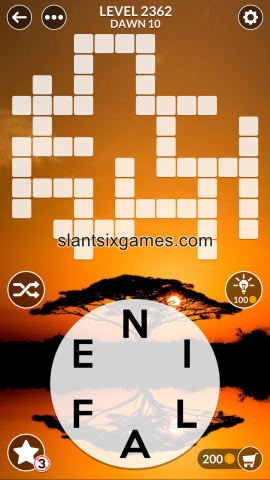 Wordscapes level 2362
