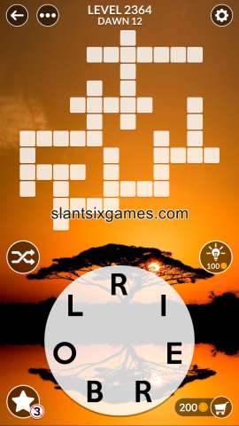 Wordscapes level 2364