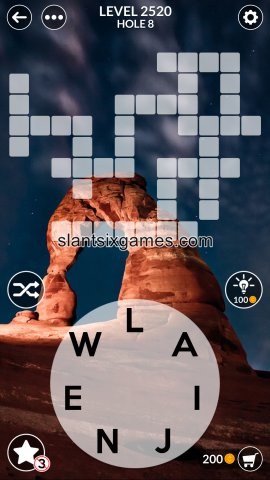Wordscapes level 2520