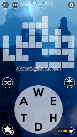 Wordscapes level 2542