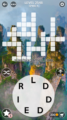 Wordscapes level 2548