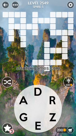 Wordscapes level 2549