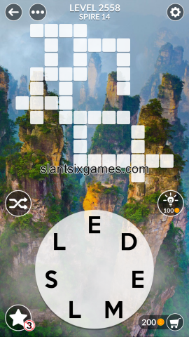 Wordscapes level 2558