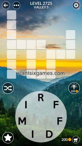 Wordscapes level 2725