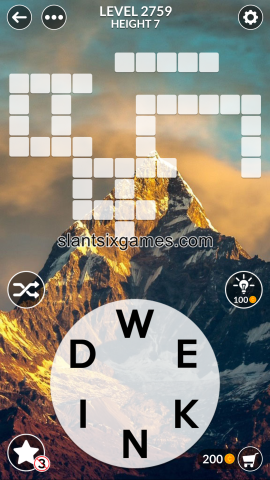Wordscapes level 2759