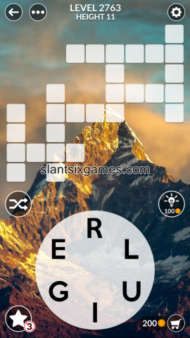 Wordscapes level 2763