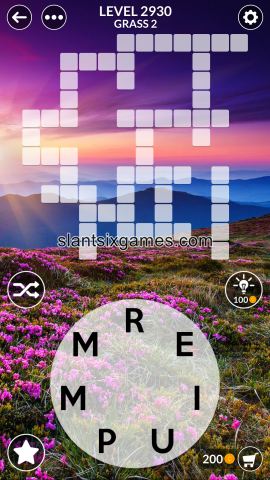 Wordscapes level 2930
