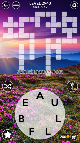 Wordscapes level 2940