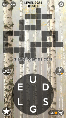 Wordscapes level 2981