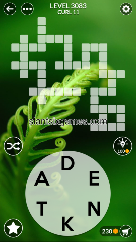 Wordscapes level 3083