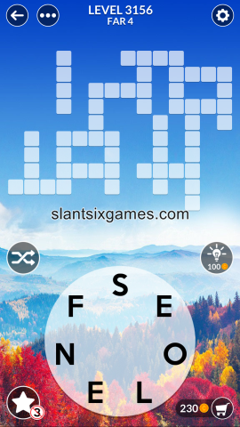 Wordscapes level 3156