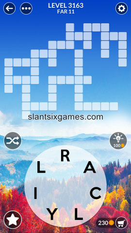 Wordscapes level 3163