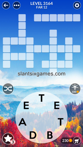 Wordscapes level 3164