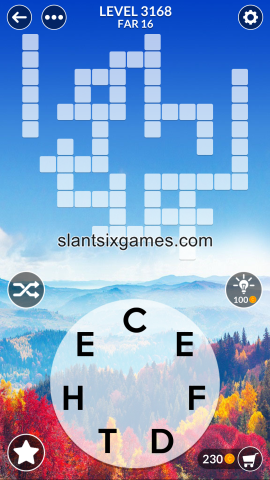Wordscapes level 3168