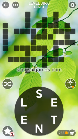 Wordscapes level 3860
