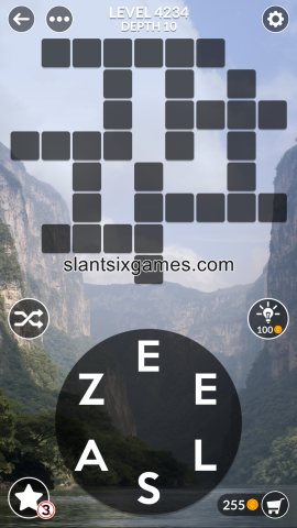 Wordscapes level 4234
