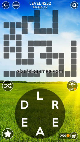 Wordscapes level 4252