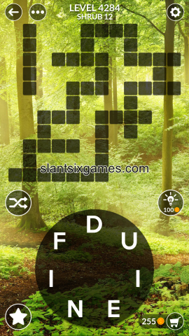 Wordscapes level 4284