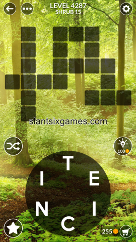 Wordscapes level 4287