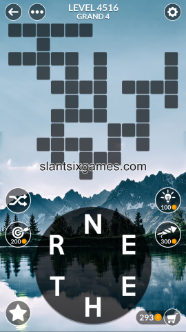 Wordscapes level 4516