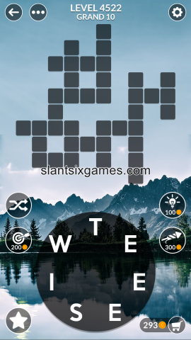 Wordscapes level 4522