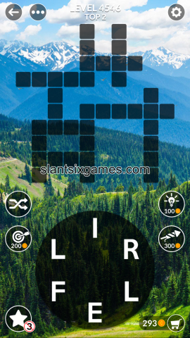 Wordscapes level 4546