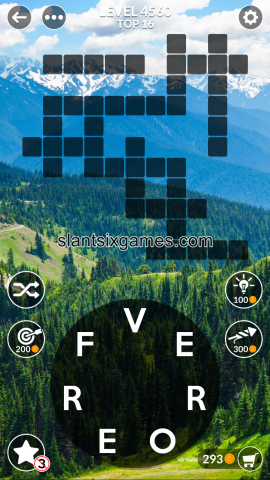 Wordscapes level 4560