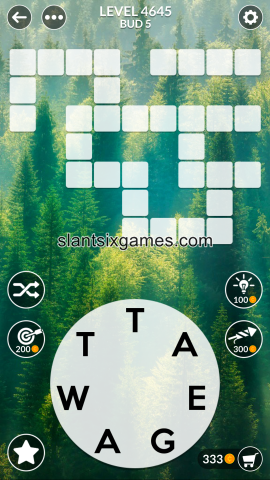 Wordscapes level 4645