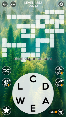 Wordscapes level 4652