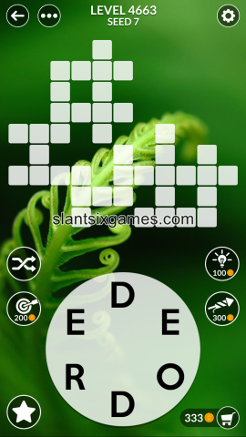 Wordscapes level 4663