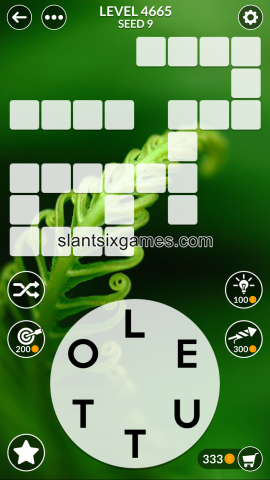 Wordscapes level 4665