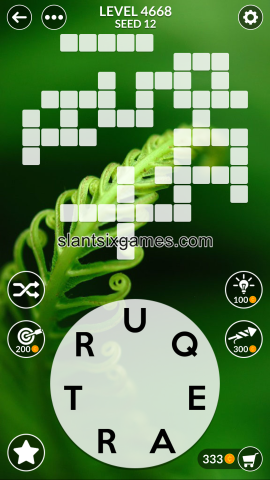 Wordscapes level 4668