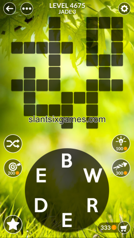 Wordscapes level 4675