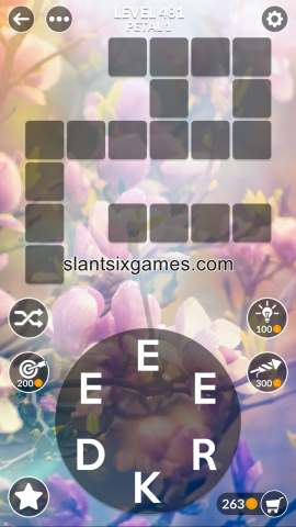 Wordscapes level 481
