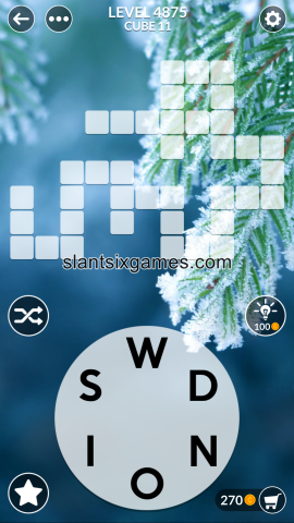 Wordscapes level 4875