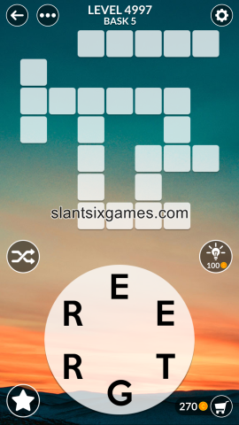 Wordscapes level 4997